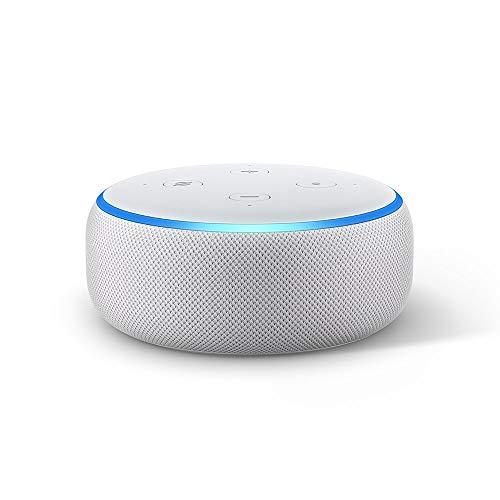 Echo Dot (3ª generazione) - Altoparlante intelligente con integrazione Alexa - Tessuto grigio chiaro