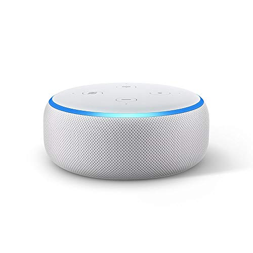 Amazon Echo Dot (3.ª generación) tela de color gris claro + Amazon Music Unlimited (6 meses GRATIS con renovación automática)
