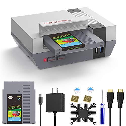 AKNES RETROFLAG NESPi 4 CASE, Raspberry Pi 4 Case with SSD CASE, USB-C Power Supply, HDMI Splitter Switch & Cooling Fan & Heatsinks for Raspberry Pi 4 Model/Pi 4 B (Pi 4 Case)