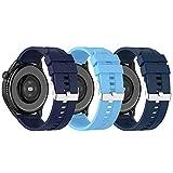 BoLuo 22mm Correa para Huawei Watch3 /Huawei Watch 3 Pro.3 Pcs Bandas Correa Repuesto,Silicona Reloj Recambio Brazalete Correa Repuesto para Garmin Venu 2/OnePlus Watch/Xiaomi Haylou RT LS05S (color4)