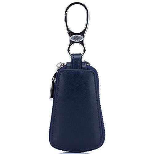 ABJING Funda para llaves de coche, unisex, con cremallera, para hombres y mujeres, color azul