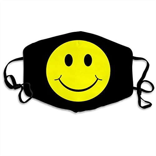 MOSDELU Smiley Face Funny Dust Life Dustproof Adjustable Anti for Cycling Camping Travel