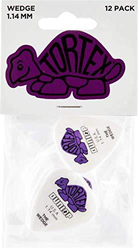 Dunlop 424 Púas TORTEX WEDGE Players violetas 1.14 mm