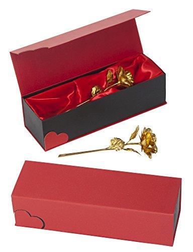 Romeo&Love Gold Rose Goldene Rose Vergoldete Rose Ewige Rose Valentinstag Geburtstag Jahrestag Weihnachts Geschenk