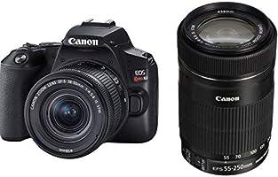 Kit Canon SL3 DSLR com Lentes EF-S 18-55MM e EF-S 55-250mm