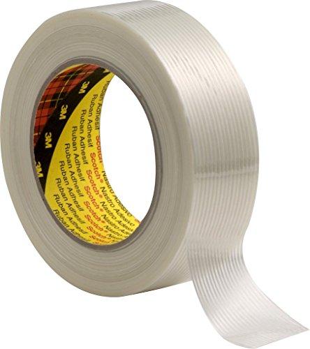 3M Tartan Filament-Klebeband Universal 8956, 50 mm x 50 m, Transparent (1-er Pack)