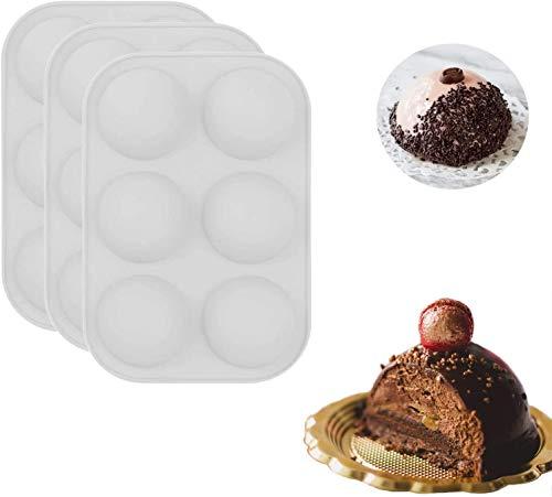 PORIN 3 pièces 6 Trous Moule en Silicone pour Biscuit au Chocolat Mousse rectangulaire Biscuit du désert bâton Pain gelée Pudding Cuisson crêpes Moule de Cuisson pour Noël