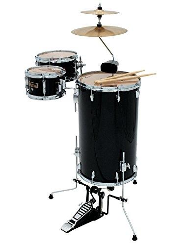 Set aus 2 x Cocktail Schlagzeuge TROPICEUR, schwarz - Steh-Drumset aus Holz / Stehschlagzeug schwarz - klangbeisser