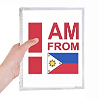 私はフィリピンから 硬質プラスチックルーズリーフノートノート