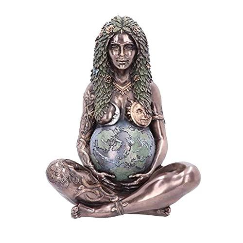 Millennial Gaia Statue Gaia Figur Mutter Erde Erde Mutter Figur Garten Ornament Outdoor Dekor