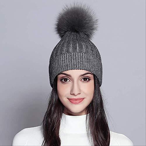 MAOZIMEI Winter Hoed Vrouwelijke Gestreepte Zwart Rood Mode Gebreide Hoeden PomPom Nieuwe Caps Bonnet