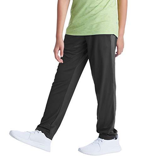 C9 Champion Boys' Open Leg Knit Pants, Ebony, M