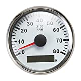 ELING Tachymètre Étanche Tachymètre Compteur RPM Avec Compteur D'heures 0-8000RPM...