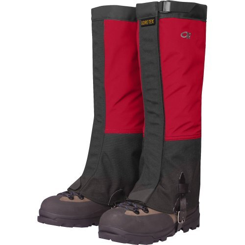 Outdoor Research Men's Crocodile Gaiters, Chili/Black, Small by Outdoor Research