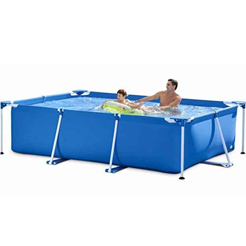 XFY Stahlrahmen Pool Rechteckiger Swimmingpool, Familienlounge Pool Kinder Kinder Sommer Wasserpool für Hinterhof Garten, 220 * 150 * 60Cm