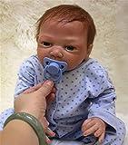 ZIYIUI Muñeca Reborn bebé Muñecos de Silicona Chico Realista Recién Nacido Boca Magnética 18 Pulgada...