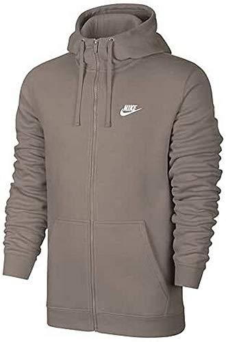 Nike Herren Sportswear Full Zip Fleece Club Kapuzenjacke, braun (Sepiastein/Weiß), L