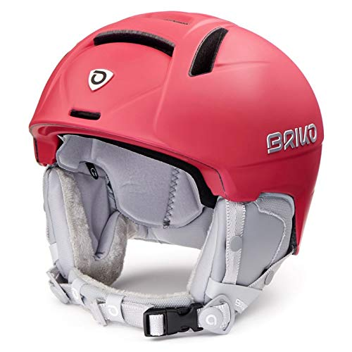 Briko Dames skihelm Matt Red Robine