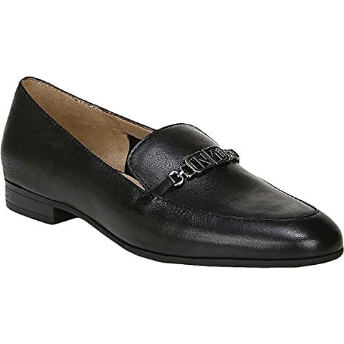 Naturalizer Womens Jones Leather Slip On Loafers Black 8 Medium (B,M)