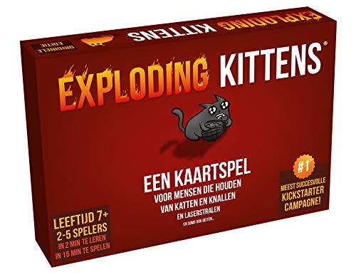 Exploding Kittens - Kaartspel met Katten, Explosies en Laserstralen - Nederlandstalig - Voor de hele Familie