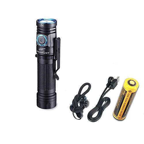 M200 New Handheld Flashlight Max 850 Lumens Samsung LH351D High 90 CRI LED Flashlight with Magnetic & 18650 Battery Customized UI Rechargeable Editable Flashlights (M200 Hi CRI + BL-135 Battery)