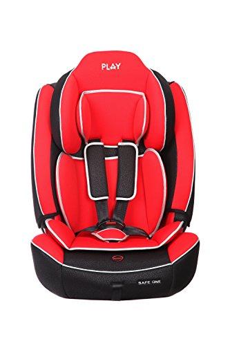 Play Safe One - Silla de coche, grupo 1/2/3, color rojo y negro