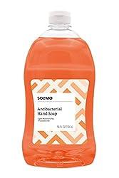 Amazon Brand - Solimo Antibacterial Liquid Hand Soap Refill, Light Moisturizing, Triclosan-Free, 56