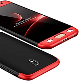 Samsung Galaxy J7 2017 /J7 Pro Case,Gkk 360 Full Protection Cover Case - Red Black