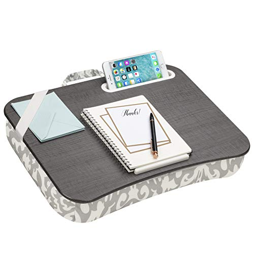 LapGear Designer Lap Desk - Gray Damask (Fits up to 15