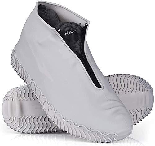 CHENKLE Wasserdichtes Schuhabdeckungen, wiederverwendbarer wasserdichter Silikon-Überschuh, bewegliche Faltbare Nicht-Rutsch-Regen Überschuhe mit Reißverschluss, für Kinder, Männer und Frauen