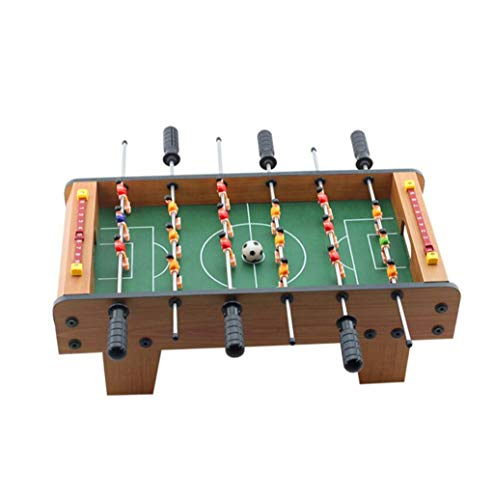 LBJYDGE Holztischfußball, Tischfußball, Heim Tabelle Spiele, Tischfußball Maschine, Große 6-Bar Fußball, Gewicht 2,4 kg, Größe 50 * 25 * 15.5cm