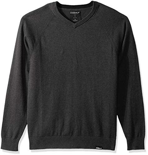 Skechers Golf Men's Fairway Long Sleeve V Neck Cottom Cashmere Sweater Vest, heather charcoal, XL