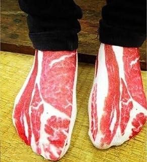 Kanggest. 4D Calcetines de Divertidos de otoño e Invierno para Navidad Calcetines de Cortos Gruesos para Hombres y Mujer Novedad Elástico Deportes Socks Calcetines Calientes La Carne