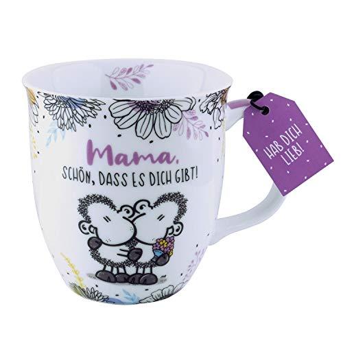 Sheepworld 46288 Mama Schön dass es dich gibt, 40 cl, Porzellan, mit Geschenk-Anhänger Tasse