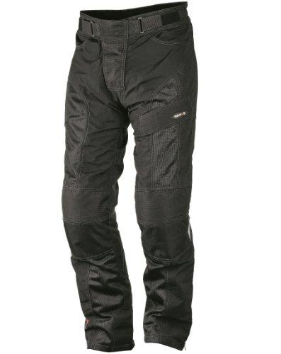 Nerve Run Pantalones de Moto de Verano, Negro, XL