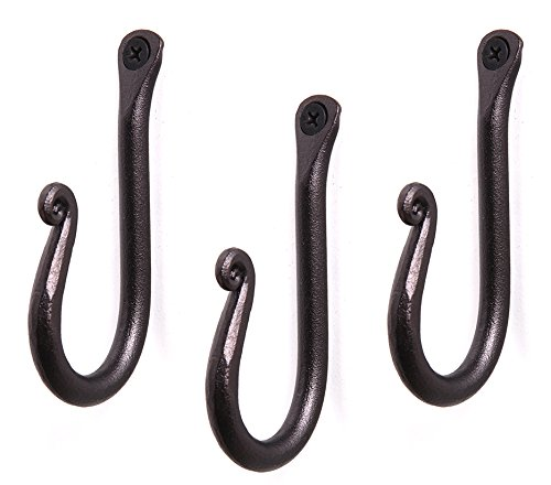 Handcrafted Wrought Iron Hook | Set of 3 |...