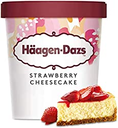 Häagen-Dazs Helado con Strawberry Cheesecake Tarrina, 460ml (Congelado)