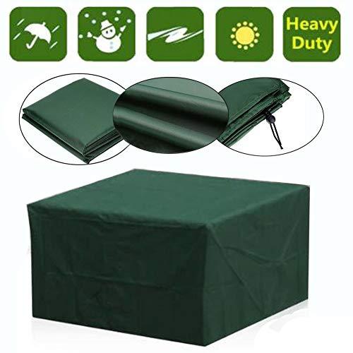 MAHFEI-Funda Protectora Muebles Jardín, Impermeable Mesa Silla Protección Cubierta Rectangular para Exteriores Diseño A Prueba De Viento Anti-UV para Mesa Y Sillas De Comedor Al Aire Libre
