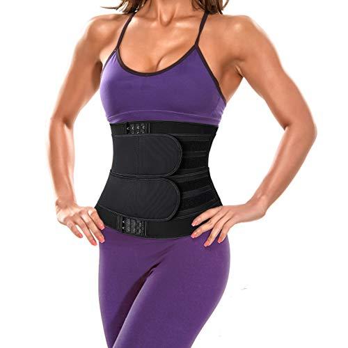 KissDate Bauchgürtel Taillentrainer Frauen Korsett Fitnessgürtel Sport Abnehmen Taillengürtel mit 1PC Maßband