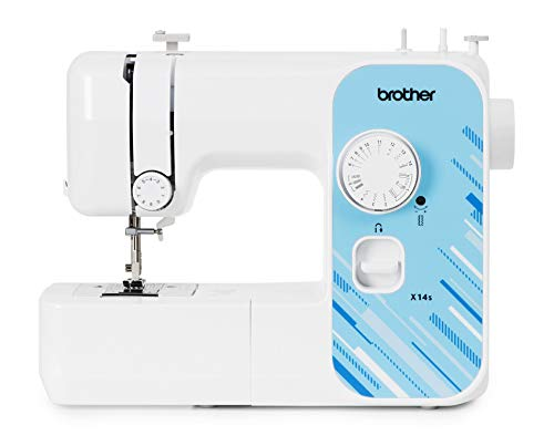 Brother X14S Máquina de coser eléctrica, blanca, normal