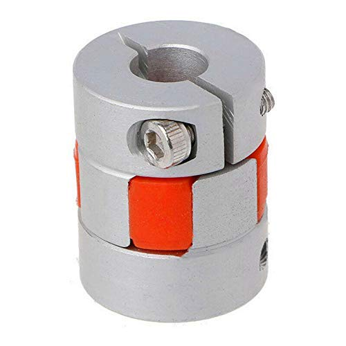 Flexible Shaft Coupling, Motor Coupler, Aluminum Alloy Seal Connector Plum Coupling for DIY Encoder, 3D Printer, CNC Machine (D25mm x W30mm, 6mm to 6mm)