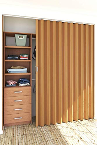 Playcon Puerta Plegable Universal Grande 108 cm de ancho X 244 cm de altura color MAPLE. La altura se…