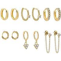 6 Pairs Erpels Erpels Gold Huggie Hoop Earring Set
