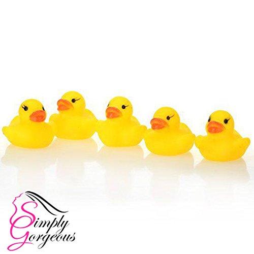 5 X mini temps de bain jaune squeaky caoutchouc canards