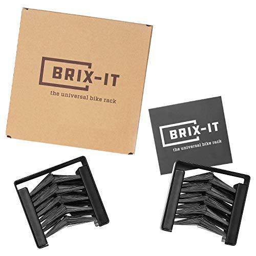brix-it Fahrrad Wandhalterung Fahrradhalter für alle Reifenbreiten (2 Stück)