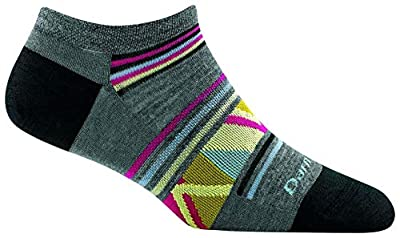 Darn Tough Bridge No Show Light Socks - Women's Gray Medium