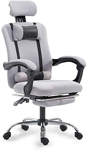 Lesbye Spielstuhl Bürostuhl, Bürostuhl, Ergonomischer Bürostuhl Computer-Arbeitsstuhl mit Verstellbarer Kopfstütze