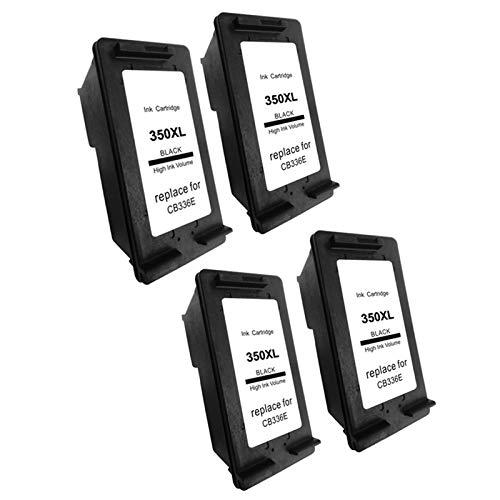 Reemplazo compatible con cartuchos de tinta 350XL, para HP DeskJet D4200 D4245 D4260 D4263 impresora 4*black