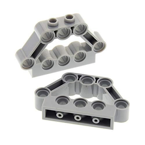 2 x Lego Technic Bau Rahmen Stein neu-hell grau 1x5x3 Motorblock Halter Verbinder Lochstein Technik Set Star Wars 10179 70605 10195 75177 42028 32333