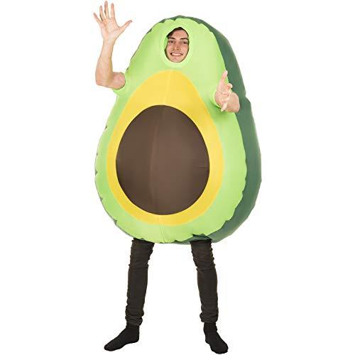 Morph Riesiges Aufblasbares Avocado Kostüm für Damen und Herren, Emoji Gemüse Kostüm Erwachsene, Lustiges Faschingskostüm